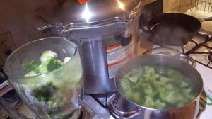 www.HomesteadingMom.com | How I Preserve Broccoli and Goat Cheese Soup