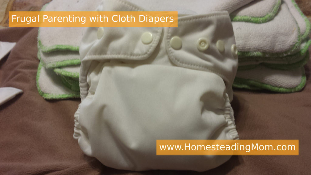 Frugal Parenting with Cloth Diapers | www.HomesteadingMom.com
