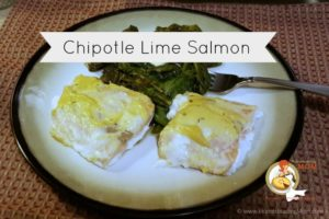 Chipotle Lime Salmon | Spinach | Sorrel | Dandelion leaves | Paleo | Primal |Ketogentic | LCHF | www.HomesteadingMom.com